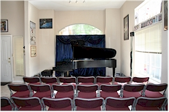 Studio transforms into a recital hall